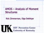 AMOS – Analysis of Moment Structures