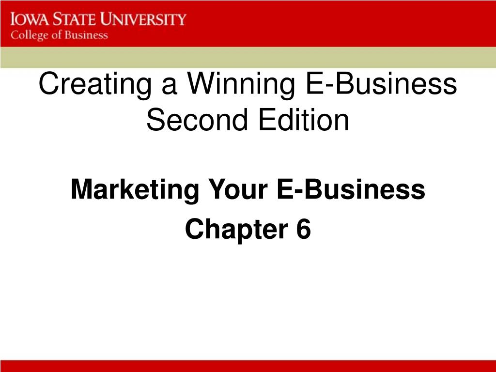 creating a winning e business second edition l.