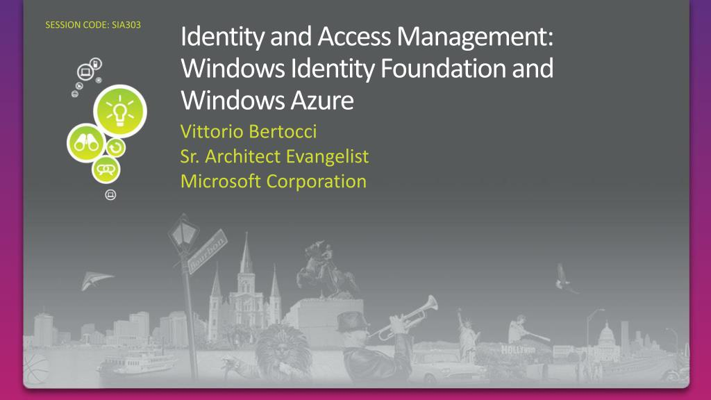 identity and access management windows identity foundation and windows azure l.