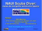 NAUI Scuba Diver: