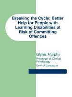 Breaking the Cycle: Better Help for People with Learning Disabilities at Risk of Committing Offences
