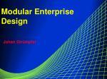 Modular Enterprise Design