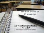 The Five Types of Plagiarism