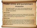 Tudor crime and punishment