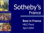 Sotheby's France