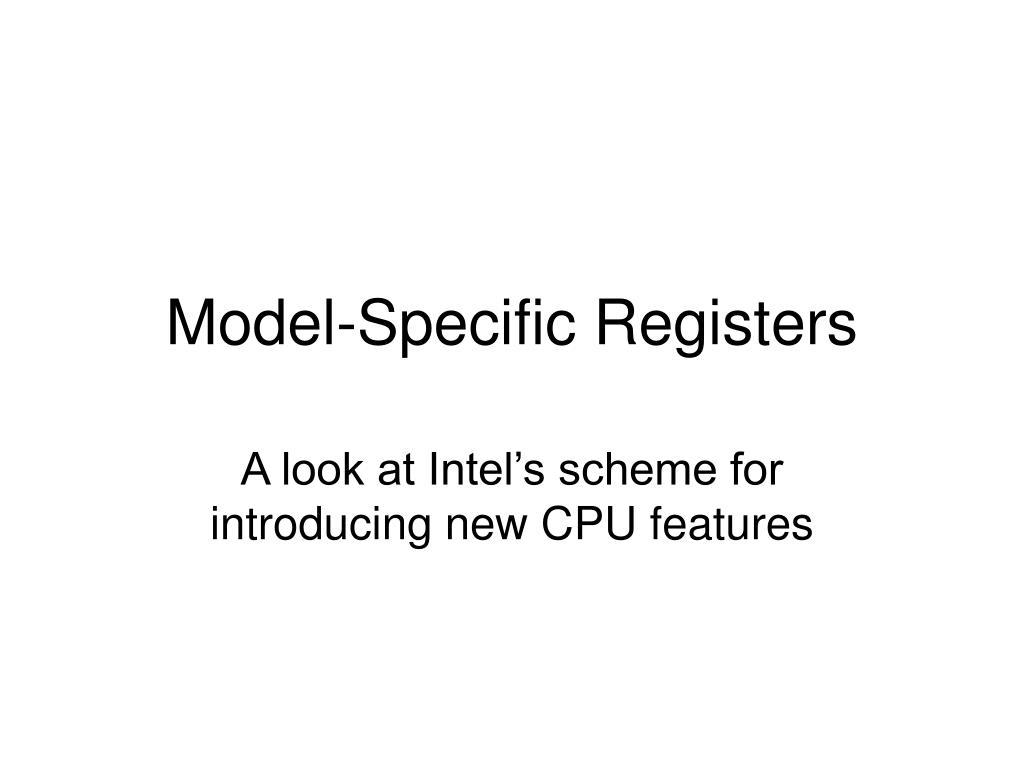 model specific registers l.