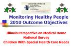 Monitoring Healthy People 2010 Outcome Objectives
