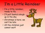 I'm a Little Reindeer