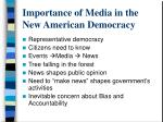 Importance of Media in the New American Democracy