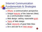 Internet Communication Fundamentals & Strategies