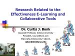 Research Related to the Effectiveness E-Learning and Collaborative Tools