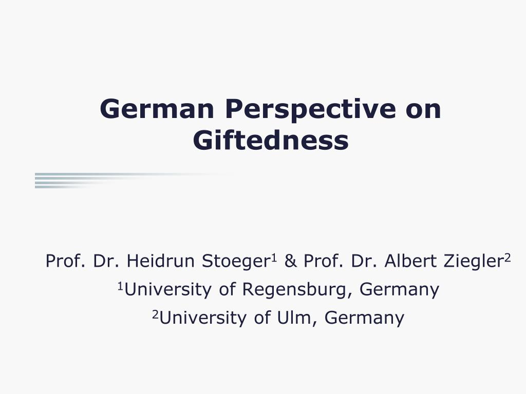 german perspective on giftedness l.