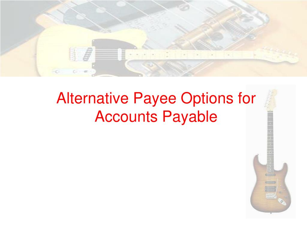 alternative payee options for accounts payable l.