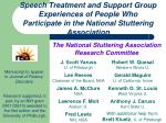 Speech Treatment and Support Group Experiences of People Who Participate in the National Stuttering Association