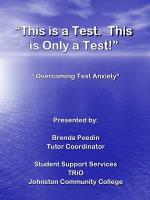 """""""This is a Test.  This is Only a Test!"""""""