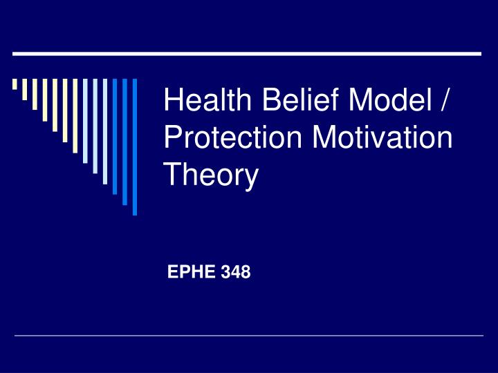 health belief model protection motivation theory n.