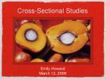 Cross-Sectional Studies