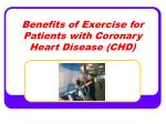 Benefits of Exercise for Patients with Coronary Heart Disease (CHD)