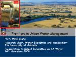 Frontiers in Urban Water Management