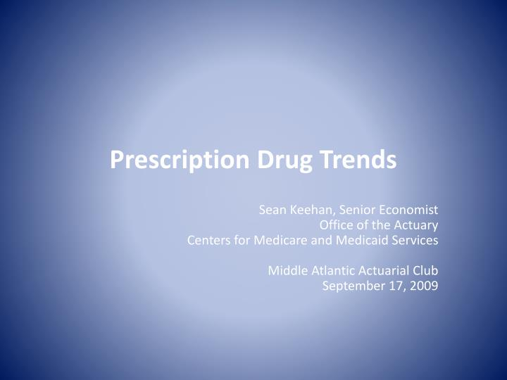 prescription drug trends n.