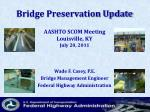 Bridge Preservation Update