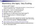 Biomimicry (the topic): Very Exciting