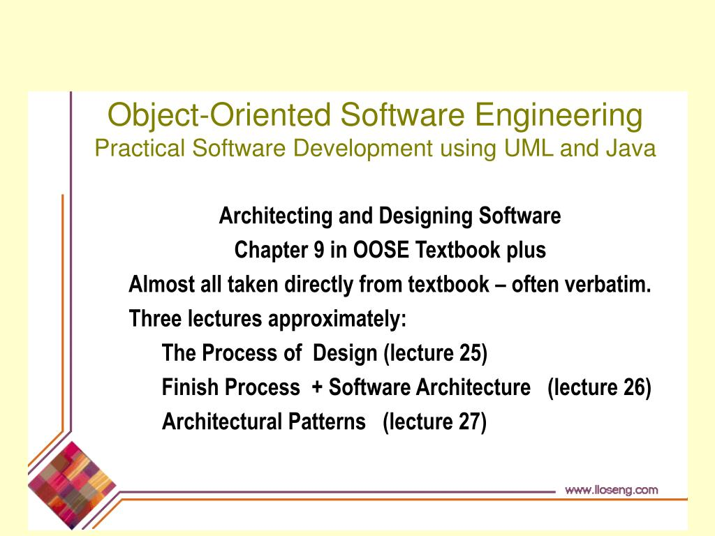 Ppt Object Oriented Software Engineering Practical Software Development Using Uml And Java Powerpoint Presentation Id 48531