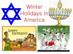 Winter Holidays in America