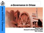 e-Governance in Orissa