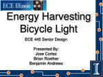 Energy Harvesting Bicycle Light