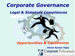 Legal & Statutory Compliances