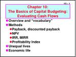 Chapter 10: The Basics of Capital Budgeting: Evaluating Cash Flows