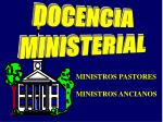 DOCENCIA MINISTERIAL