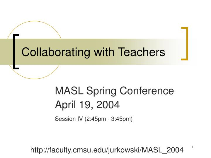collaborating with teachers n.