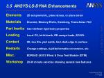 3.5 ANSYS/LS-DYNA Enhancements