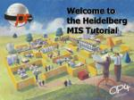 Welcome to the Heidelberg MIS Tutorial