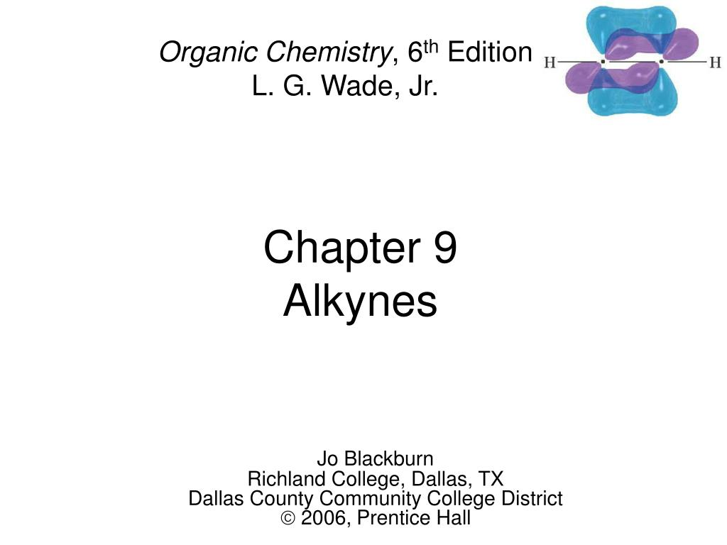 chapter 9 alkynes l.