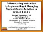 Marcia L. Kosanovich, Ph.D. Teresa Logan, M.S. Connie Weinstein, M.Ed. The Florida Center for Reading Research Florida