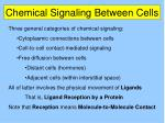 Chemical Signaling Between Cells