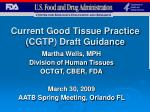 Current Good Tissue Practice (CGTP) Draft Guidance