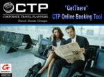 """GetThere""  CTP Online Booking Tool"