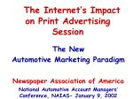 The Internet's Impact on Print Advertising Session