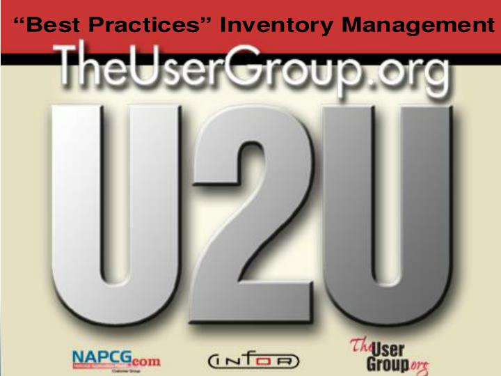 best practices inventory management n.