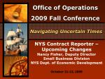 NYS Contract Reporter – Upcoming Changes Nancy Fisher, Deputy Director Small Business Division NYS Dept. of Economic Dev