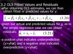 3.2 OLS Fitted Values and Residuals