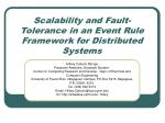 Scalability and Fault-Tolerance in an Event Rule Framework for Distributed Systems