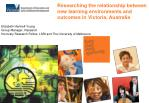Researching the relationship between new learning environments and outcomes in Victoria, Australia