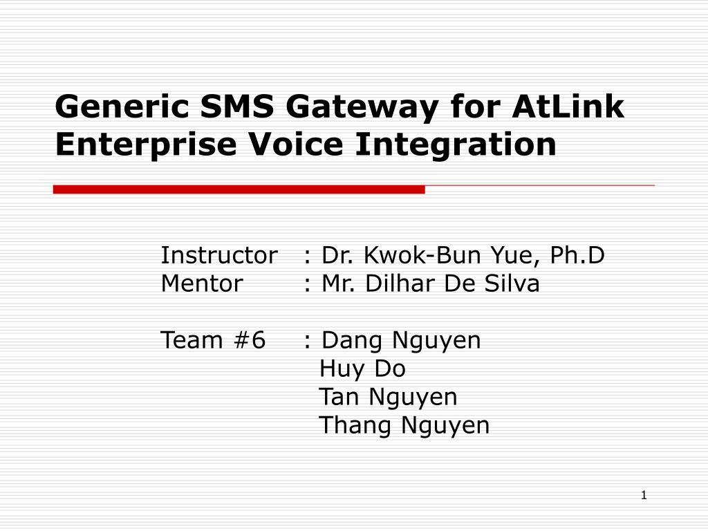 generic sms gateway for atlink enterprise voice integration l.