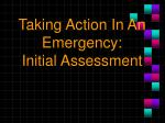 Taking Action In An Emergency: Initial Assessment