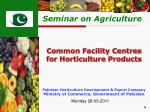 Pakistan Horticulture Development & Export Company  Ministry of Commerce, Government of Pakistan